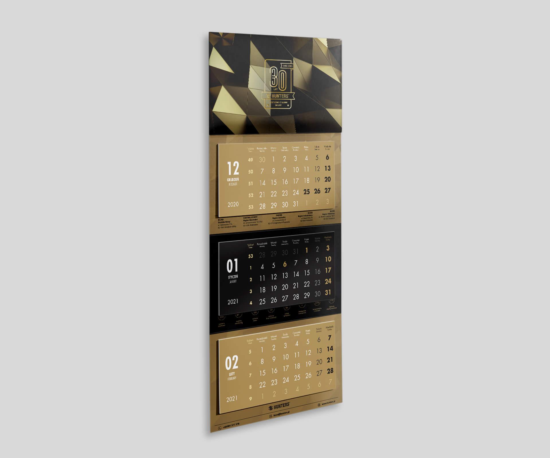 kalendarze ścienne 2021